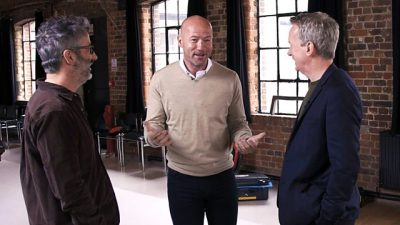 Alan Shearer with Baddiel & Skinner